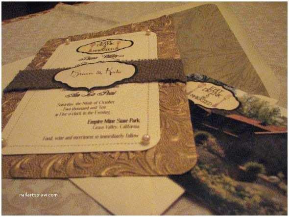 Diy Vintage Wedding Invitation Ideas Fall Vintage Rustic Diy Invitations