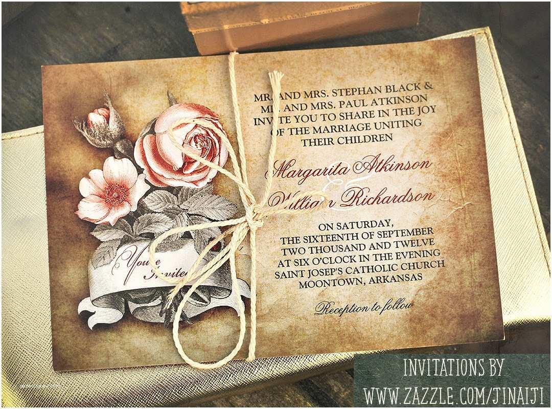 Diy Vintage Wedding Invitation Ideas Old Vintage Wedding Invitations – Need Wedding Idea
