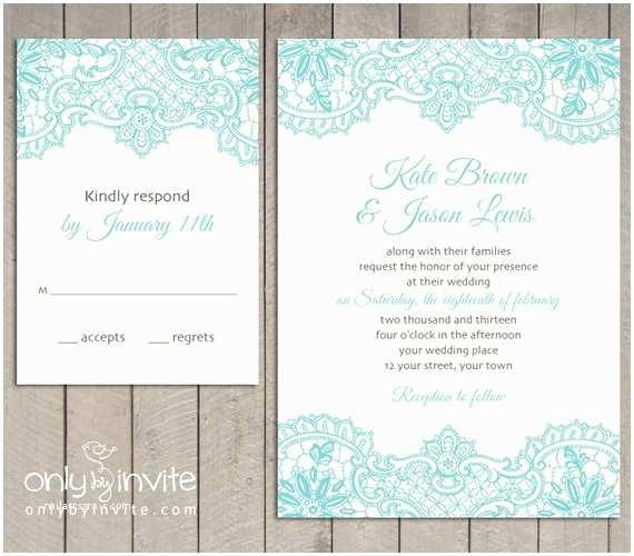 Diy Vintage Wedding Invitation Ideas Vintage Lace Printed Wedding Invitation and Rsvp by
