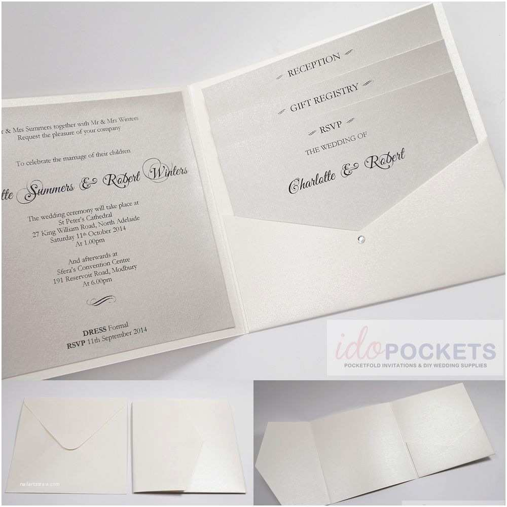 Diy Wedding Invitation Envelopes 20 X Ivory Cream Metallic Square Wedding Invitation