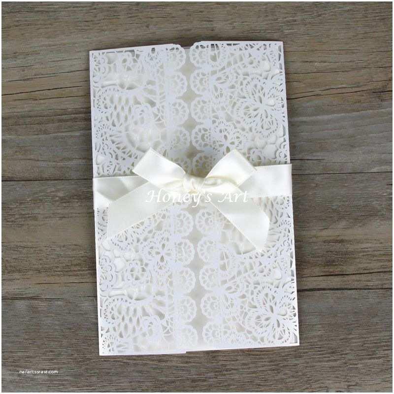 Diy Wedding Invitation Envelopes 50pcs Lot Laser Cut Wedding Invitations with Envelope