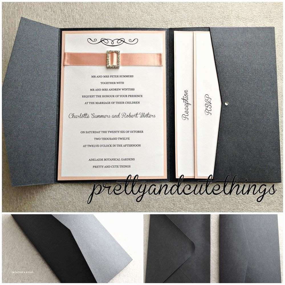 Diy Wedding Invitation Envelopes Black