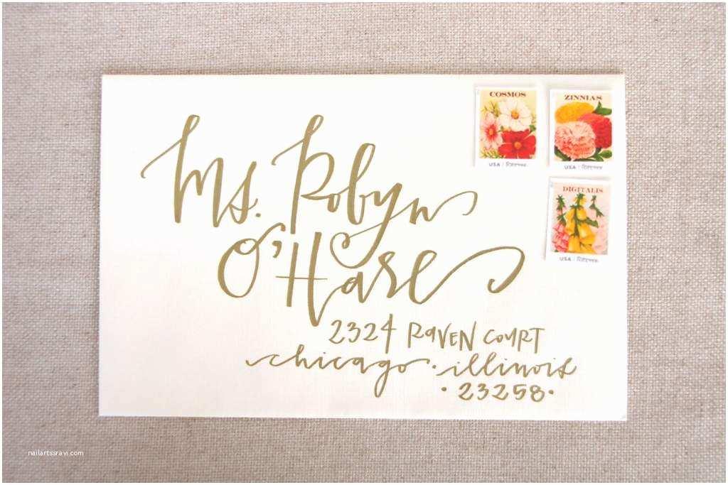 Diy Wedding Invitation Envelopes Diy Calligraphy Wedding Invitation Envelopes Matik for