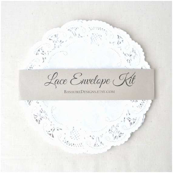 Diy Wedding Invitation Envelopes Diy Lace Envelope Kit Wedding Invitation by Harvestpaperco