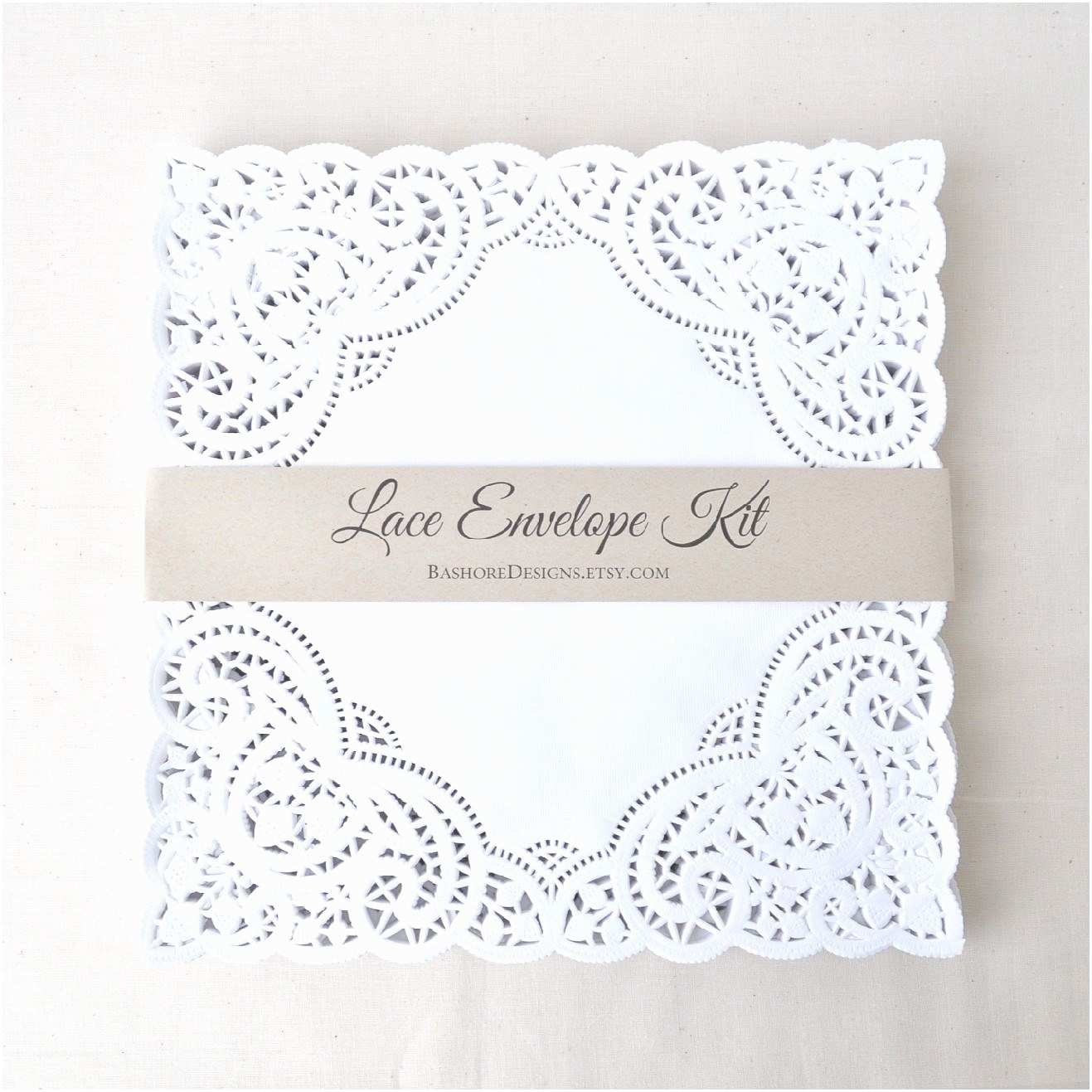 Diy Wedding Invitation Envelopes Diy Lace Envelope Kit Wedding Invitation Envelope Liners
