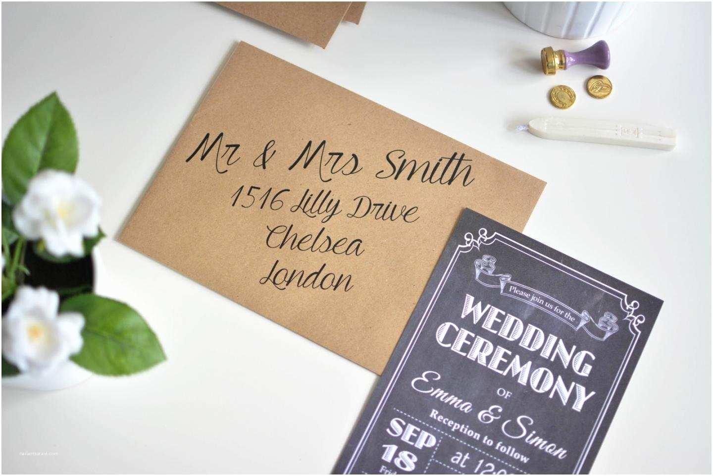 Diy Wedding Invitation Envelopes How to Make Affordable Chalkboard Wedding Invitations