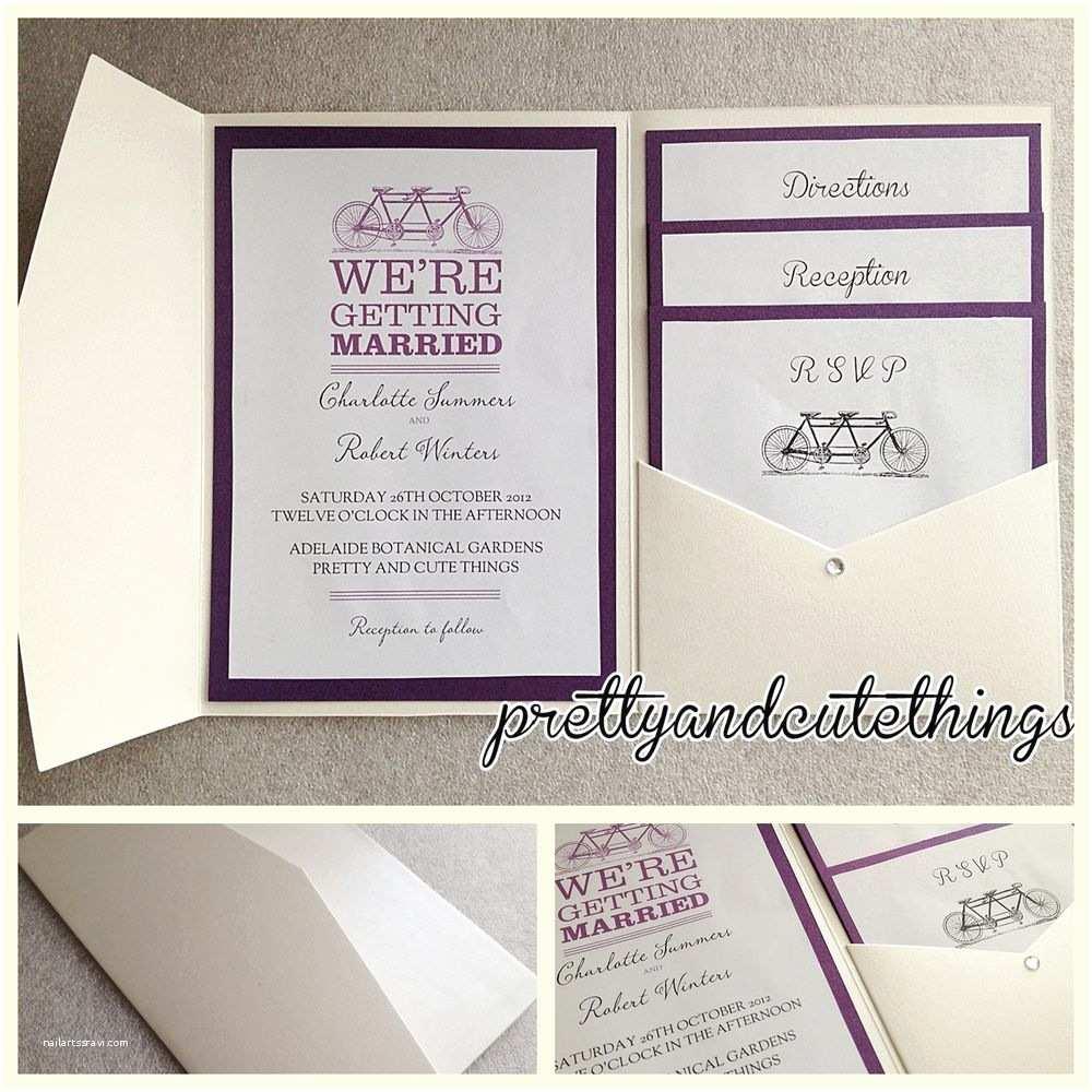Diy Wedding Invitation Envelopes Ivory Cream Vintage Wedding Invitations Diy Pocket Fold