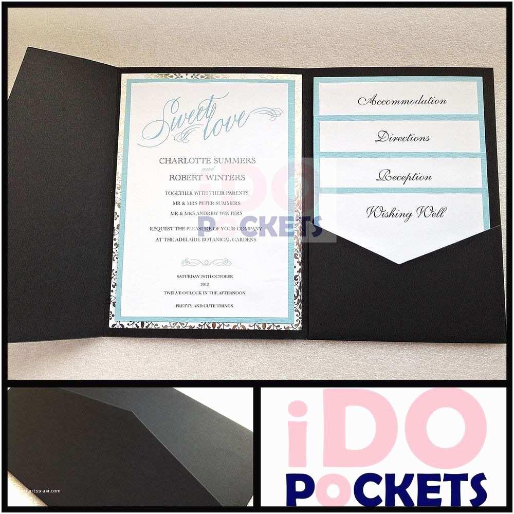 Diy Wedding Invitation Envelopes Matte Black Wedding Invitations Diy Pocket Cards Envelopes