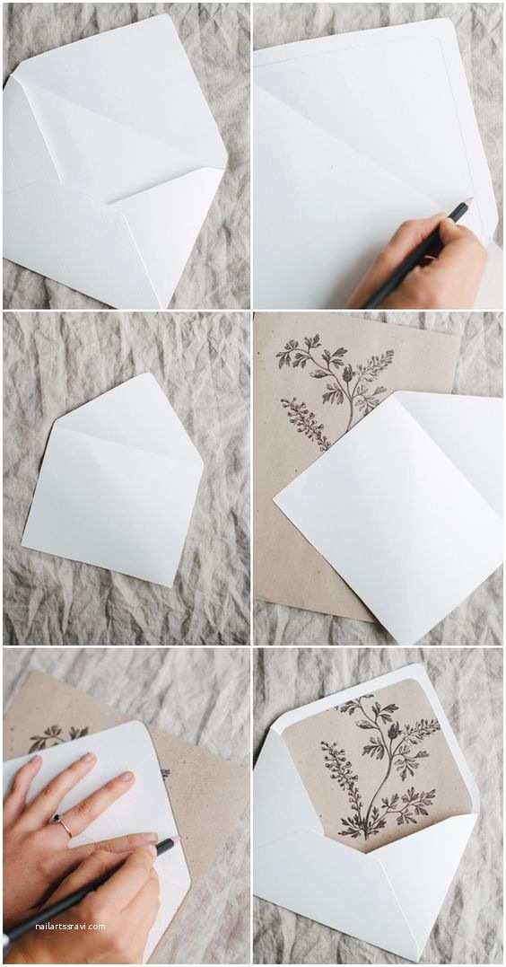 Diy Wedding Invitation Envelopes Simple Diy Rustic Wedding Invitation and Envelope Liners