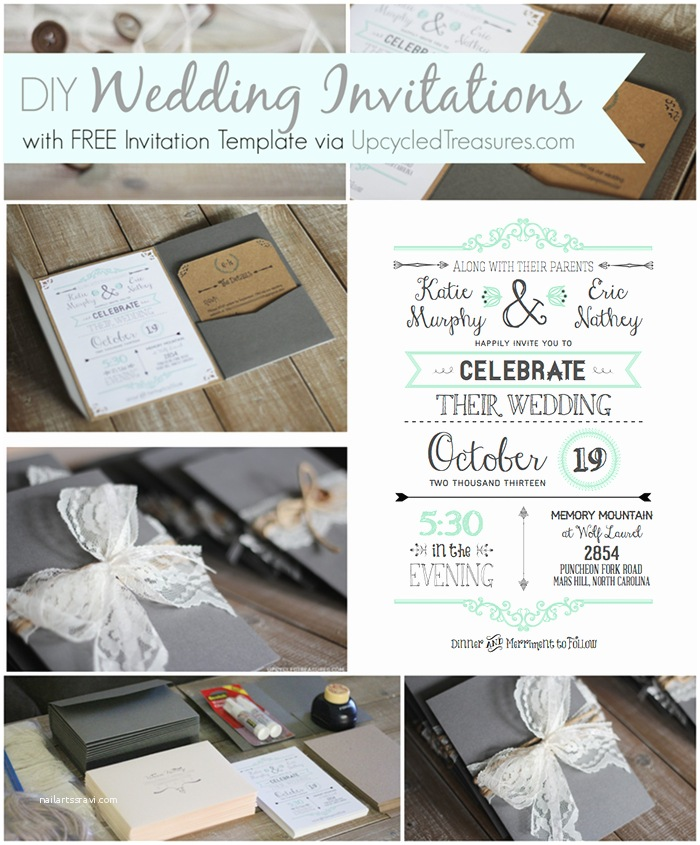 Diy Wedding Invitation software 10 Free Wedding Printables for the Crafty Bride – Party