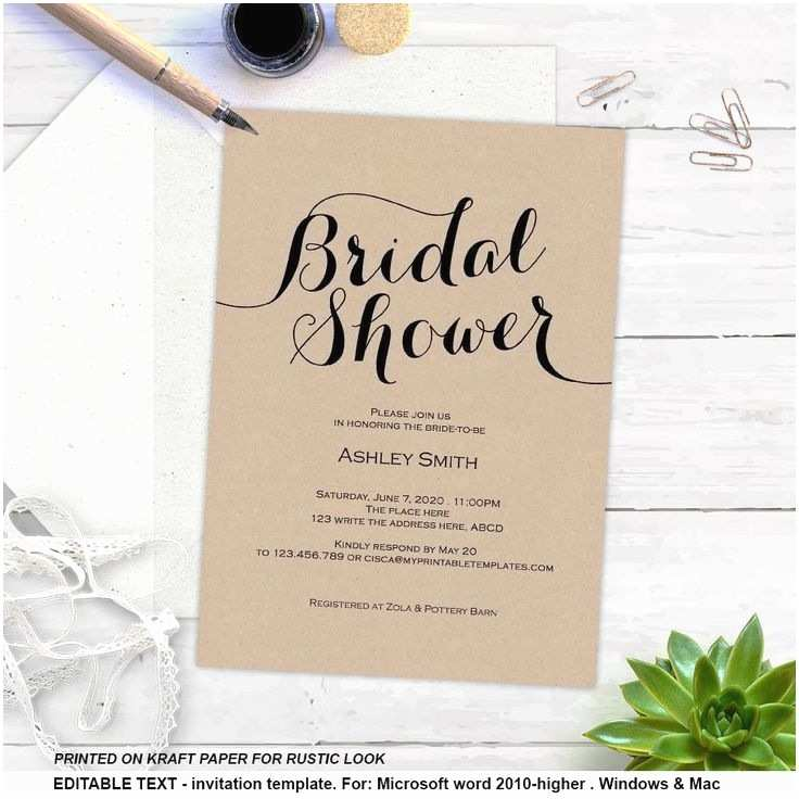 Diy Wedding Invitation software Luxury Wedding Shower Invitations Diy Ideas