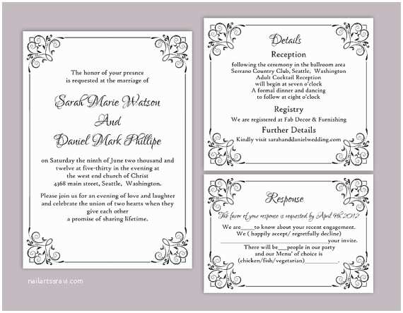Diy Wedding Invitation software Wedding Invitation Templates Diy Wedding Invitation