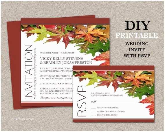 Diy Wedding Invitations And Rsvp Cards Diy  Wedding Invitations With Rsvp Cards Printable