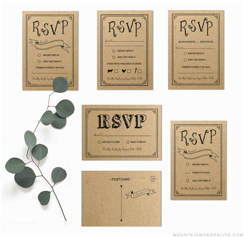 Diy Wedding Invitations and Rsvp Cards Diy Rsvp Card Archives