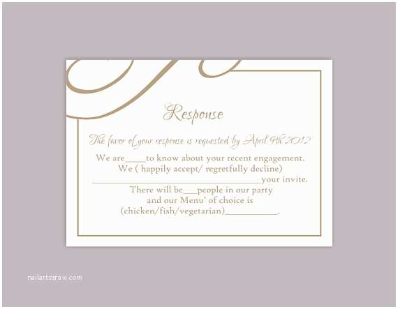 Diy Wedding Invitations and Rsvp Cards Diy Wedding Rsvp Template Editable Text Word File Download