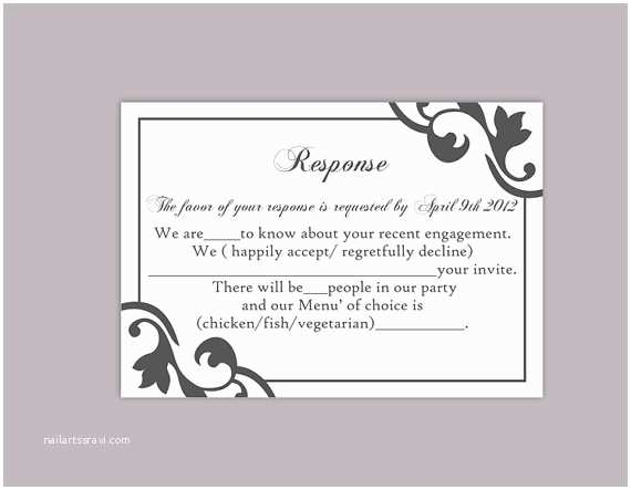 Diy Wedding Invitations and Rsvp Cards Diy Wedding Rsvp Template Editable Text Word File Instant