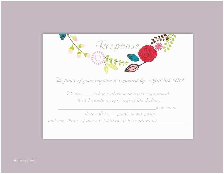 Diy Wedding Invitations and Rsvp Cards Diy Wedding Rsvp Template Editable Word File Download Rsvp