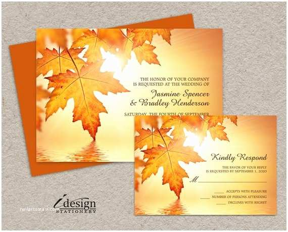 Diy Wedding Invitations and Rsvp Cards Fall Wedding Invitations and Rsvp Cards Diy Printable Wedding