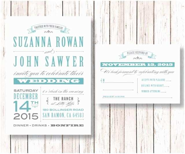 Diy Wedding Invitations and Rsvp Cards Rustic Wedding Invitation and Rsvp Card Printable Diy