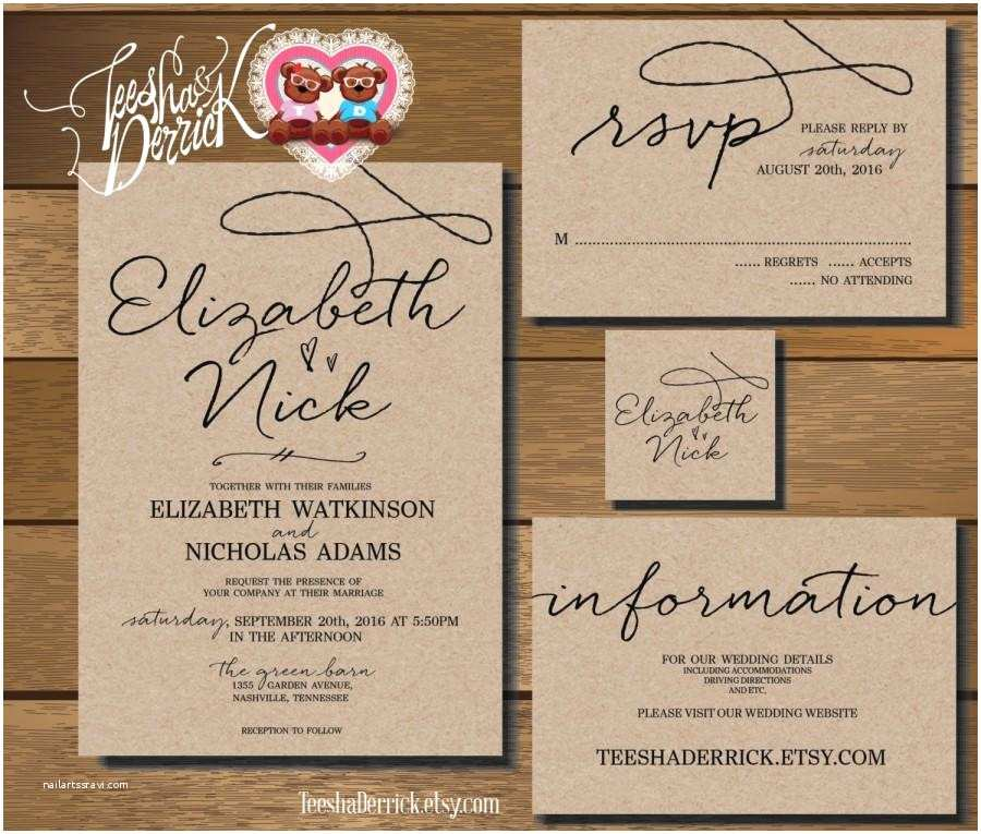 Diy Wedding Invitations and Rsvp Cards Wedding Invitations and Rsvp Cards