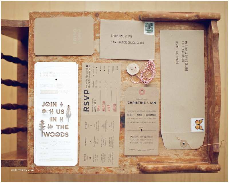 christine ians diy woodland wedding invitations