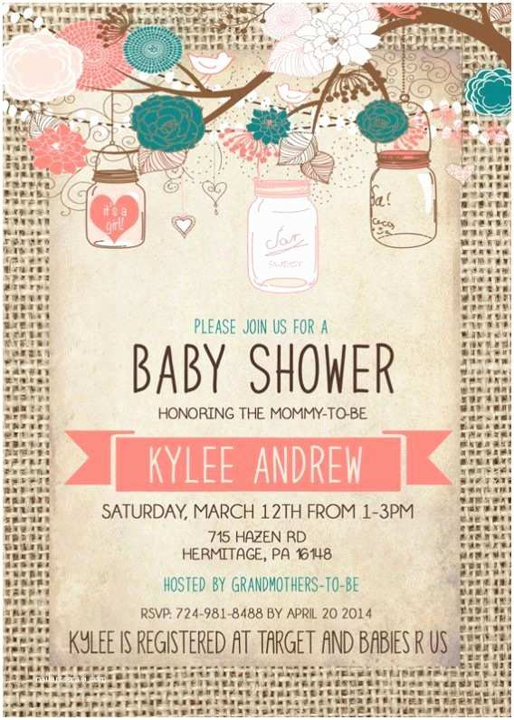 Do It Yourself Baby Shower Invitations Burlap Baby Shower Invitations