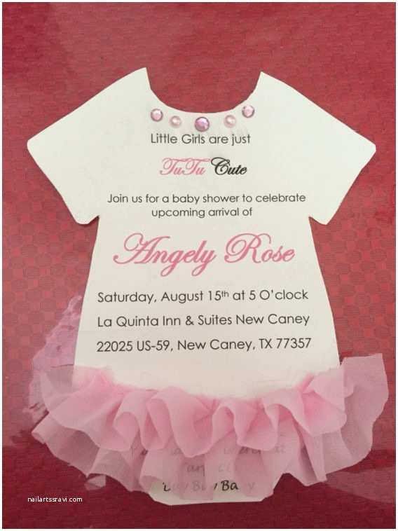 Do It Yourself Baby Shower Invitations Tutu Baby Shower Invitations