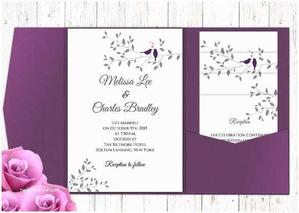 Do It Yourself Wedding Invitations Templates Diy Pocket Wedding Invitations Templates