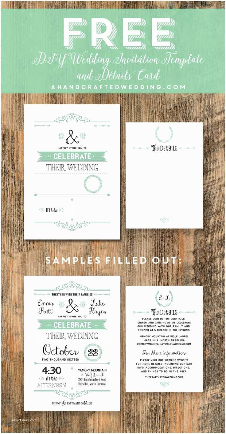 Do It Yourself Wedding Invitations Templates Free Wedding Invitation Template Via Ahandcraftedwedding