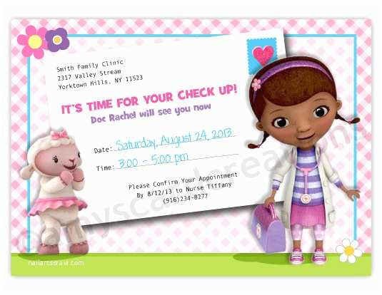 Doc Mcstuffins Birthday Invitations Doc Mcstuffins Birthday Card – Gangcraft