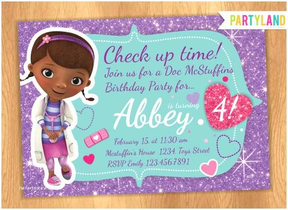 98 Doc Mcstuffins Birthday Party Invitations Free