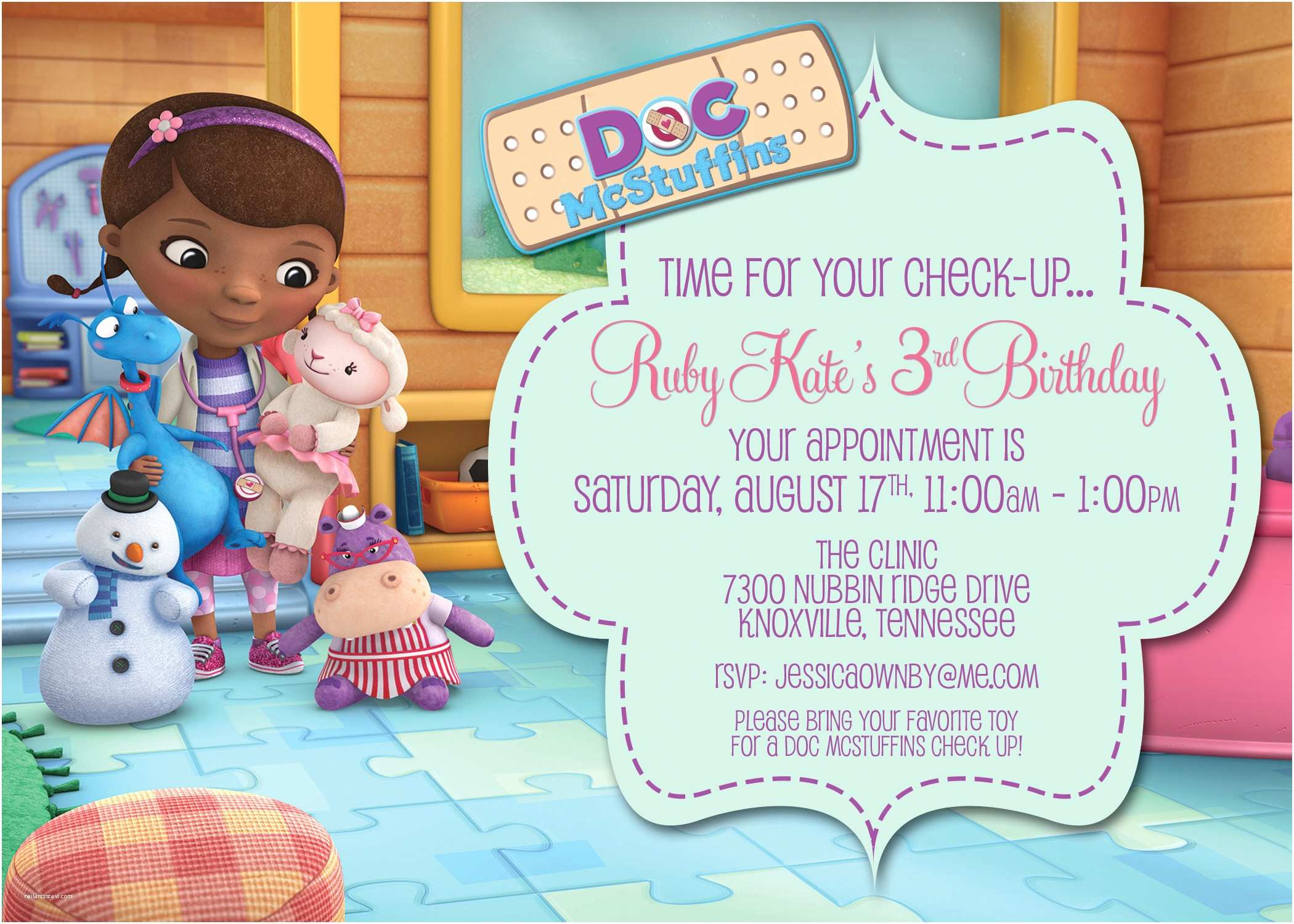 photograph about Doc Mcstuffins Printable Invitations identify Document Mcstuffins Social gathering Invites Produce Document Mcstuffins