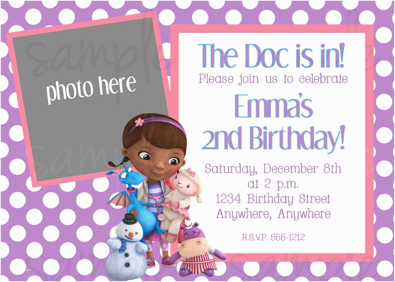 Doc Mcstuffins Party Invitations Doc Mcstuffins Birthday Invitation