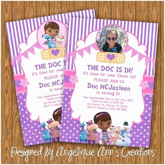 graphic relating to Doc Mcstuffins Printable Invitations identified as Document Mcstuffins Celebration Invites Goods Related towards Tailor made