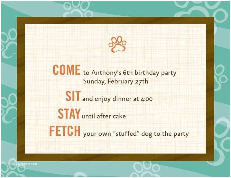 Dog Birthday Invitations 10 Images About Dog theme Birthday Party On Pinterest