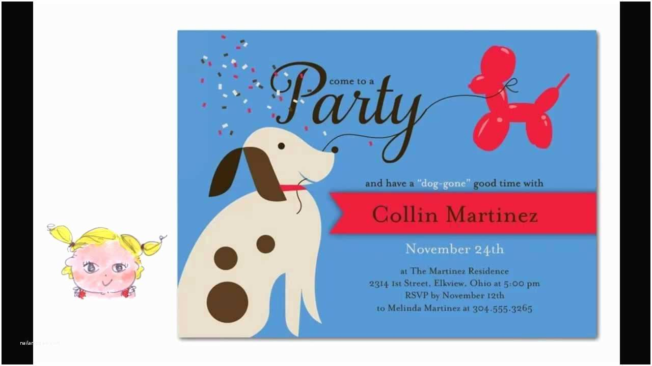 Dog Birthday Invitations Cutest Puppy Birthday Party Invitations for Dogs & Dog