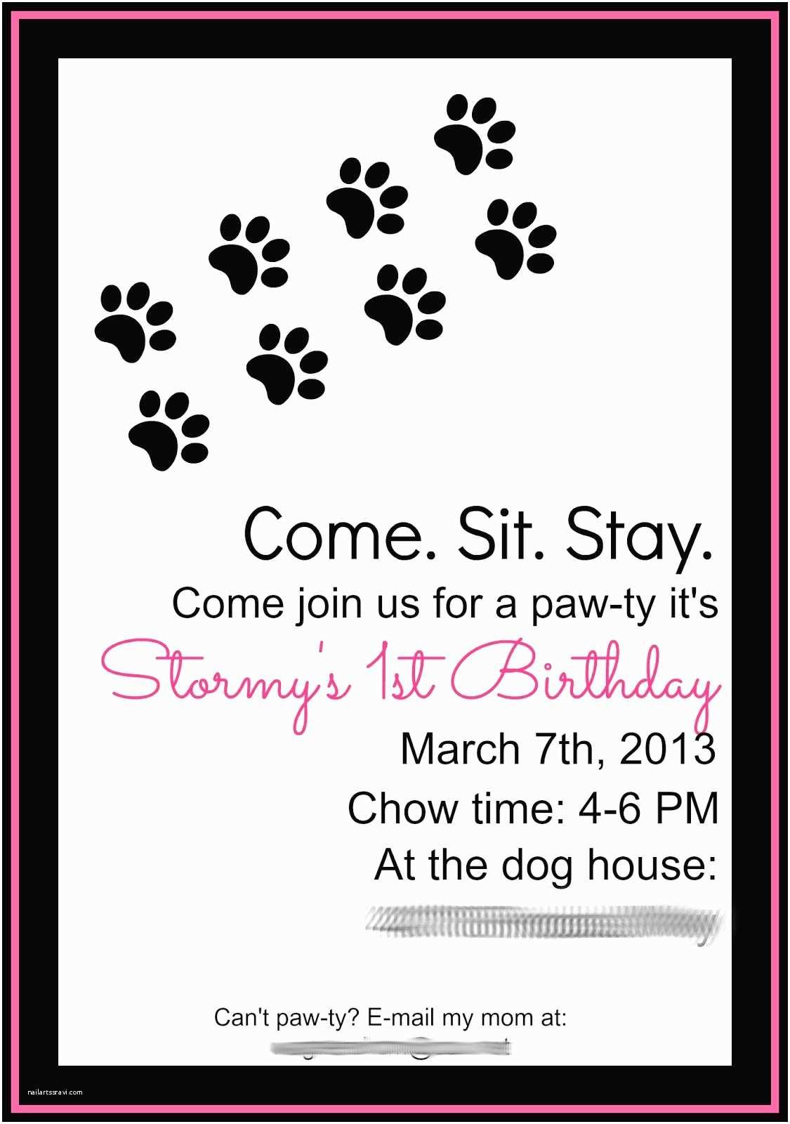 Dog Birthday Invitations Keeping My Cents ¢¢¢ Dog Birthday
