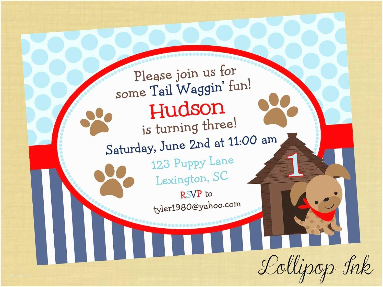 Dog Birthday Invitations Puppy Dog Birthday Invitations