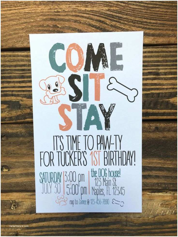 Dog Birthday Party Invitations 1957 Best Parties Images On