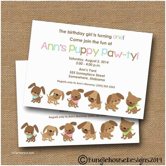Dog Birthday Party Invitations Best 25 Puppy Parties Ideas On Pinterest