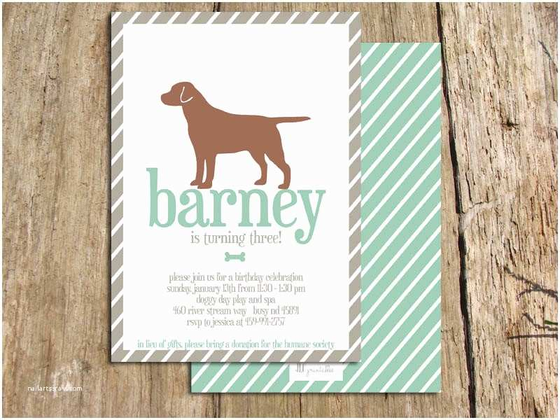 Dog Birthday Party Invitations Bagvania Free Printable