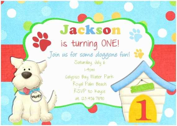 Dog Birthday Party Invitations  Birthday Invitation  Party Invite