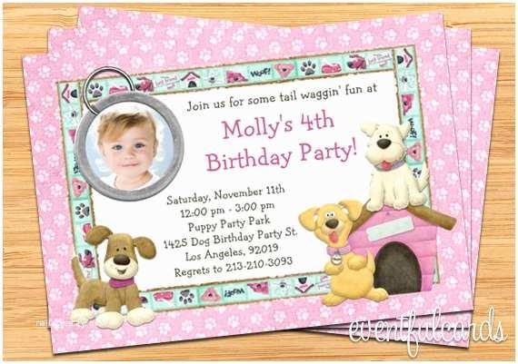 Dog Birthday Party Invitations Puppy Dog Birthday Party Invitation Printable
