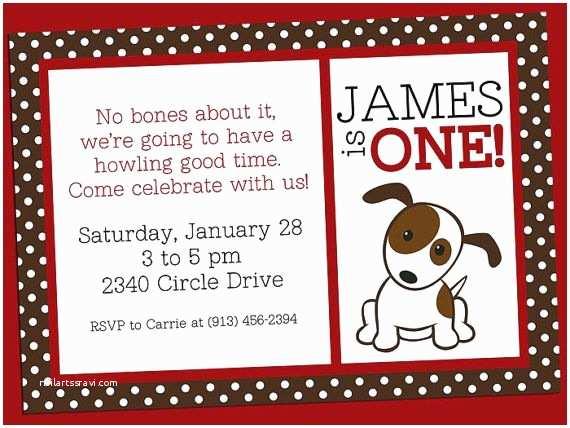 Dog Birthday Party Invitations Puppy Dog Party Invitation Jpeg