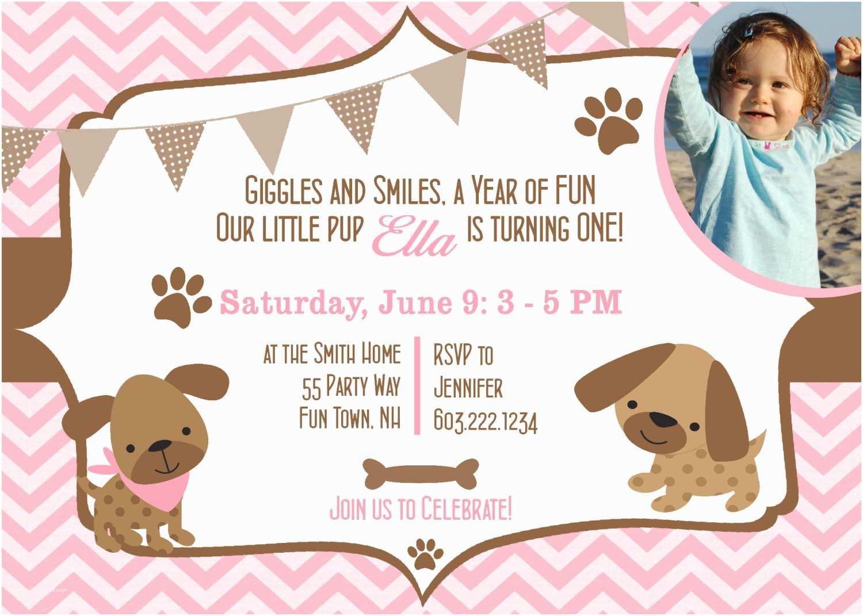 Dog Party Invitations Birthday Puppy Invites 1st