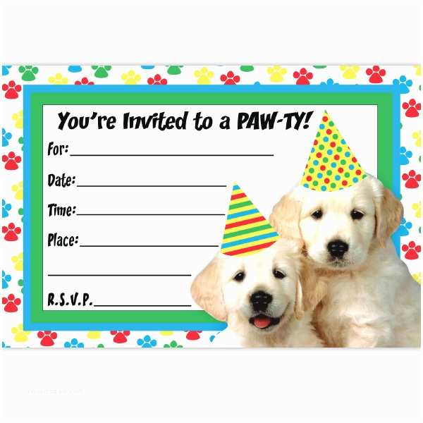 Dog Party Invitations Free Themed Birthday