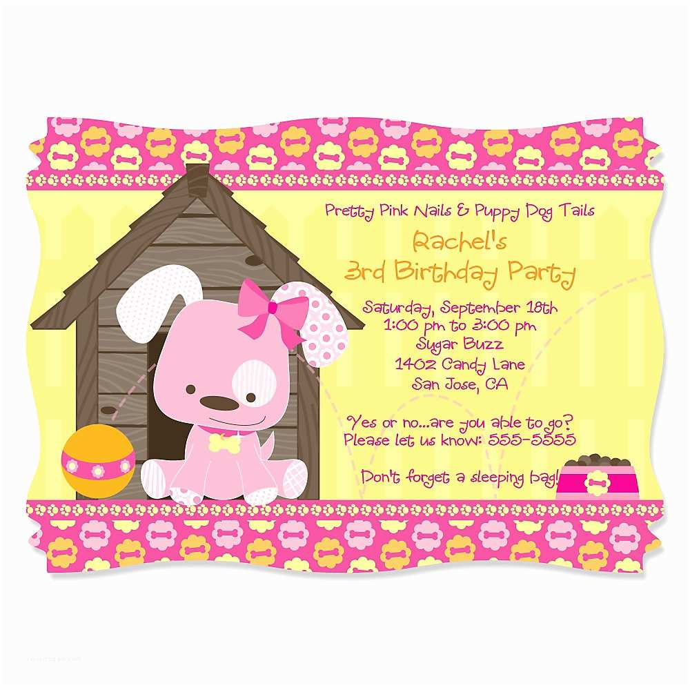 Dog Party Invitations Themed Birthday