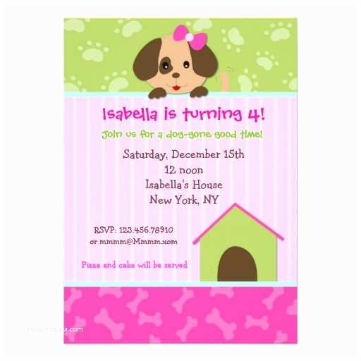 Dog Party Invitations Free Themed Birthday Template