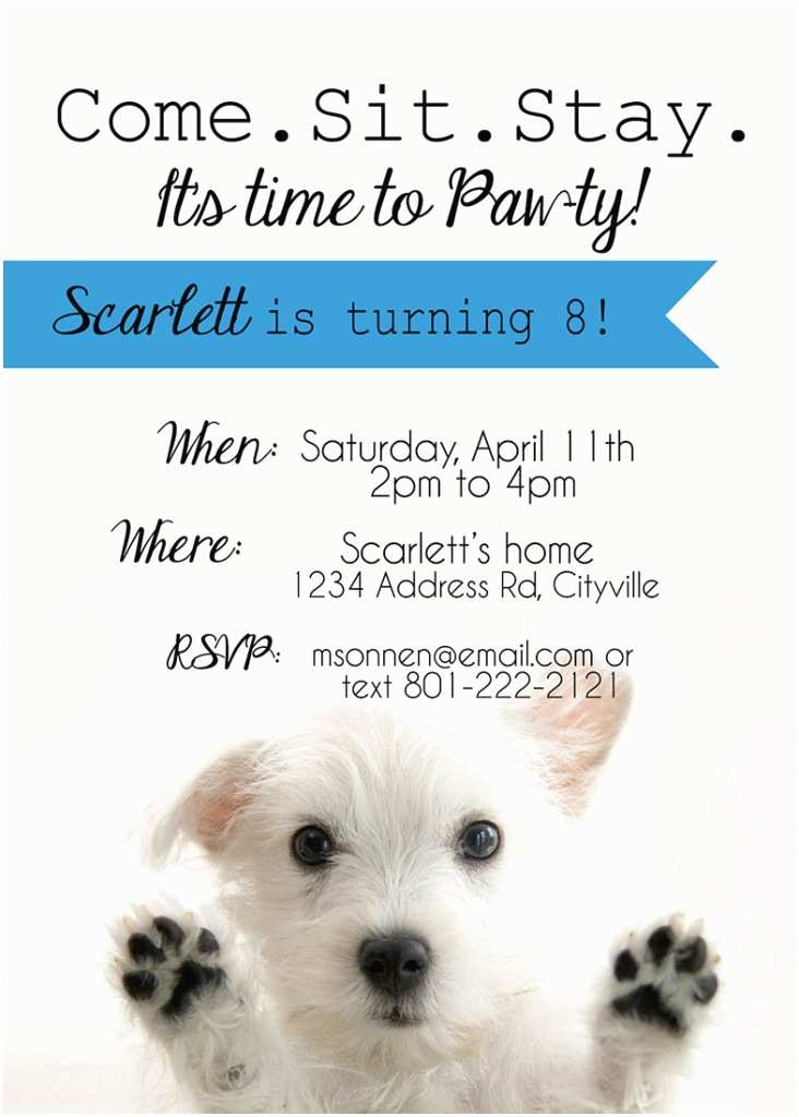Dog Party Invitations It S Three Thirty