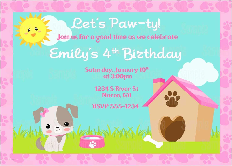 Dog Party Invitations Printable Puppy Dog Birthday Party Invitation Plus Free Blank
